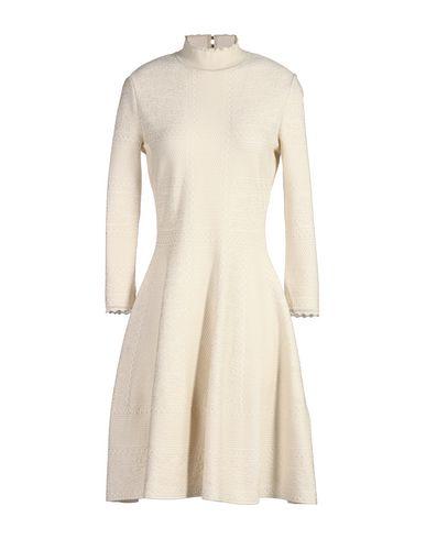 Alexander Mcqueen Short Dress In Ivory