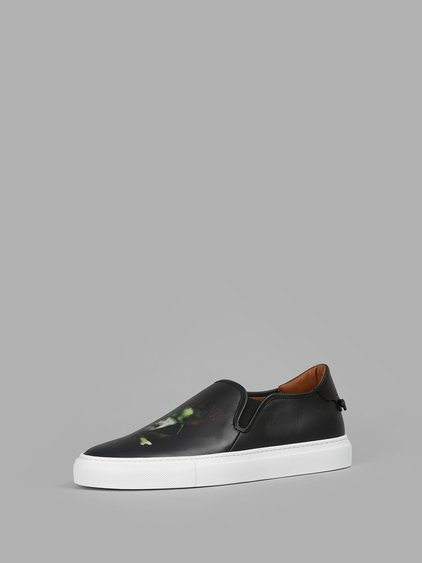 d146b3af72f Givenchy  Street Skate Iii  Army Skull Print Leather Slip-Ons In ...