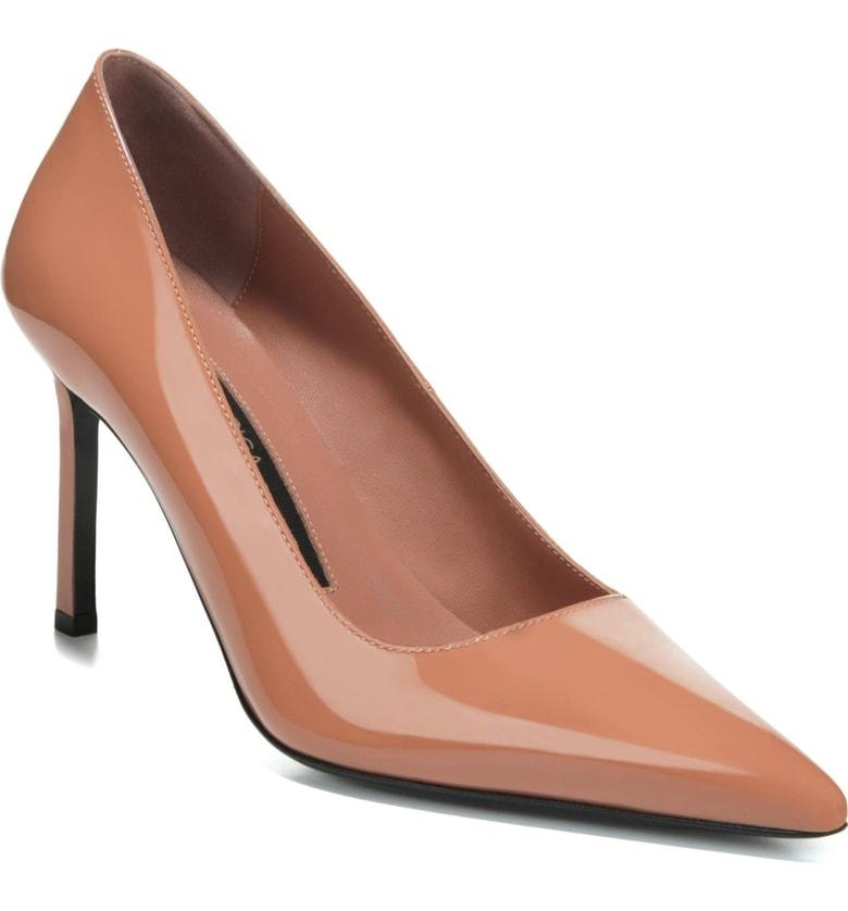 ab9a02f8a49b Via Spiga Nikole Pointy Toe Pump In Blush Patent Leather | ModeSens