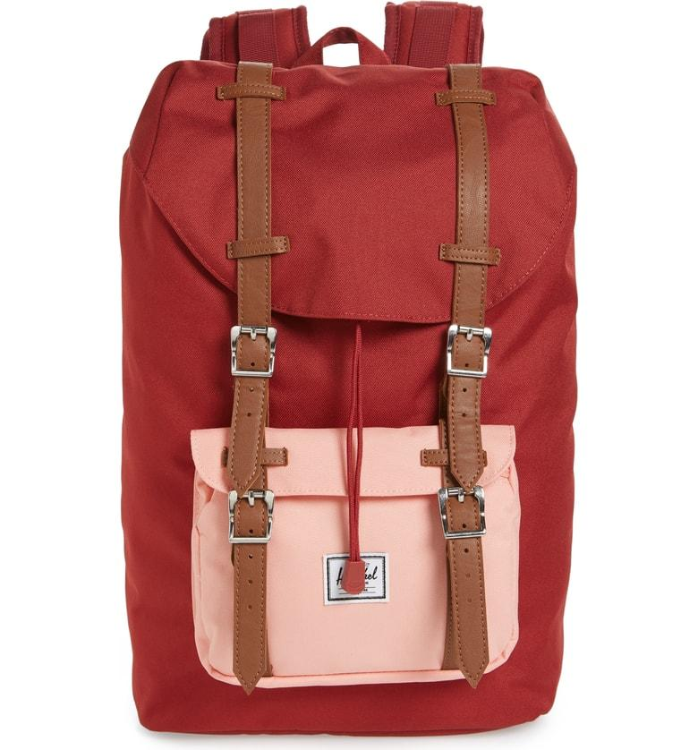 8ed2be4d01f Herschel Supply Co. Little America - Mid Volume Backpack - Red In Brick Red