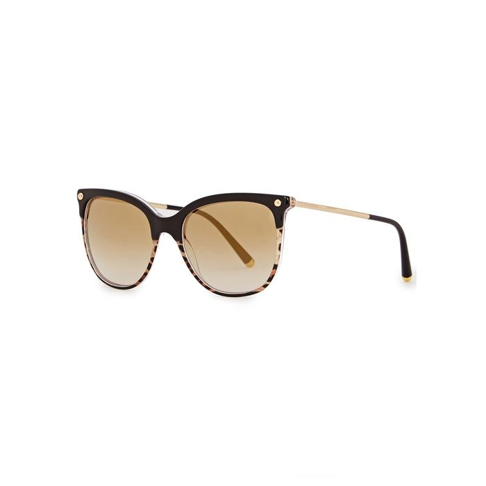d9febd9a3ad Dolce   Gabbana Leopard-Print Oval-Frame Sunglasses In Tortoise ...