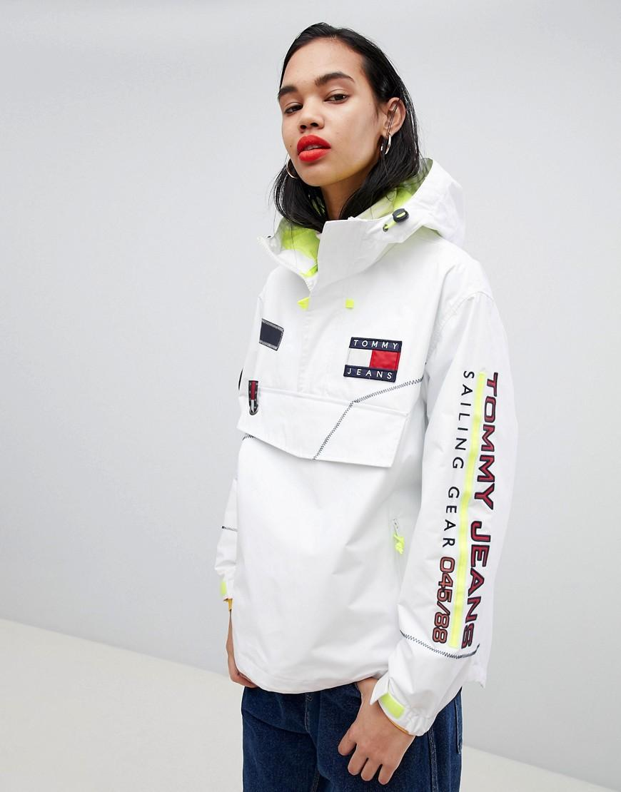 0a5ddefaa48 Tommy Jeans Tommy Jean 90S Capsule 5.0 Oversized Sailing Jacket - White