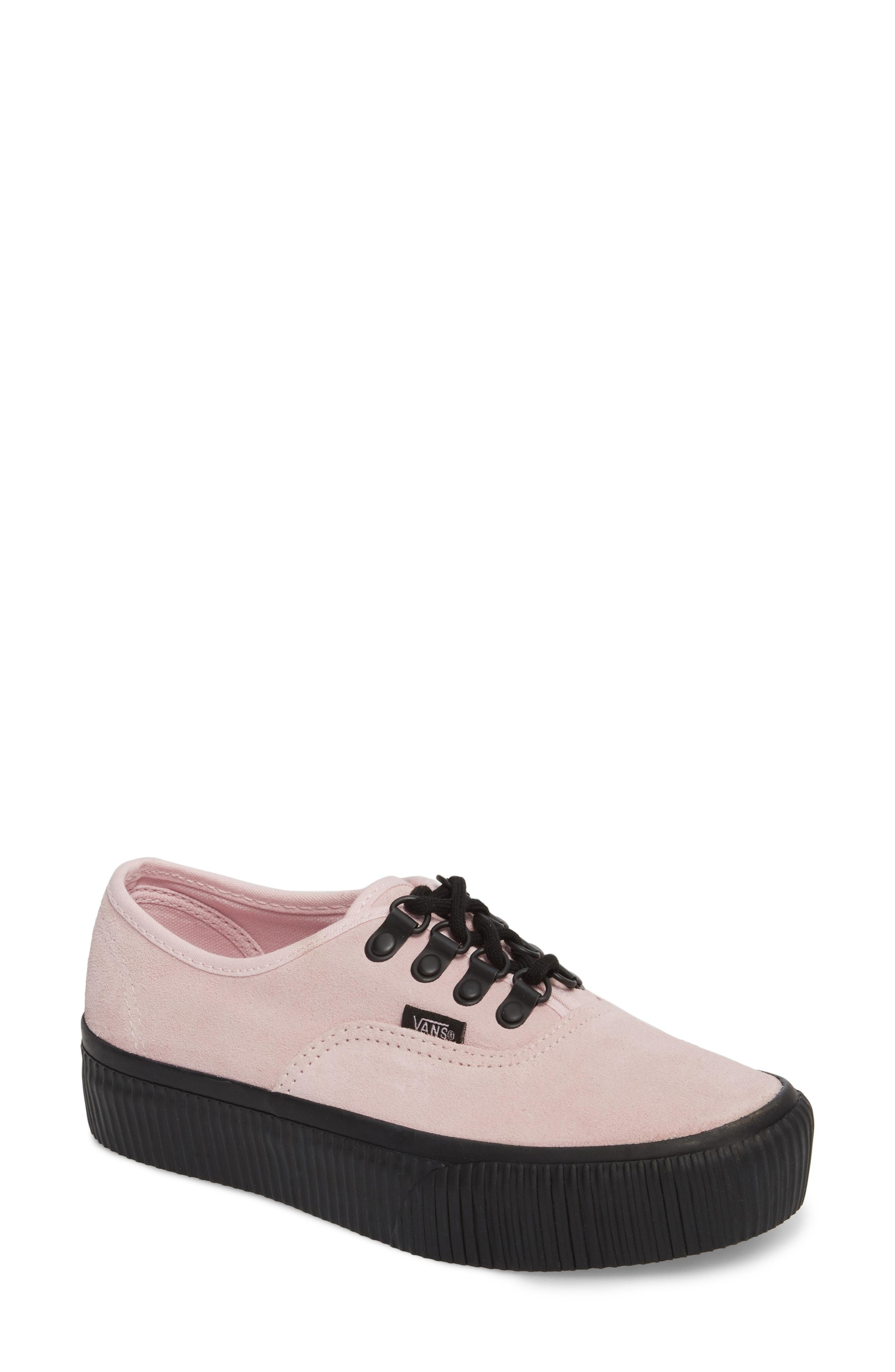 5579b6e7060761 Vans  Authentic  Platform Sneaker In Chalk Pink  Black