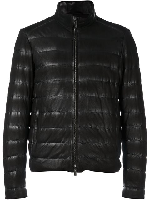 Tod's Stitched Suede Jacket In Black