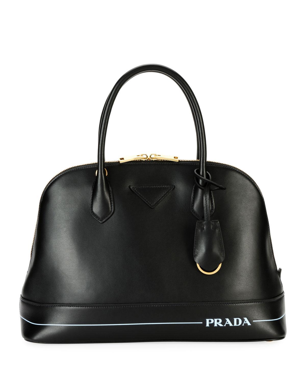 07ebb4e7f35bc8 Prada Mirage Leather Shoulder Bag In Black | ModeSens