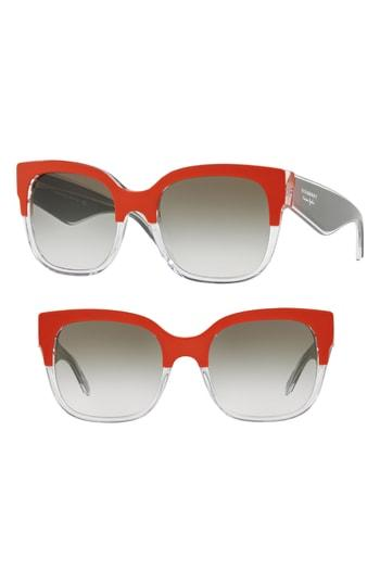 24968bd89a66 Burberry 56Mm Cat Eye Sunglasses - Grey  Red Gradient In Orange ...