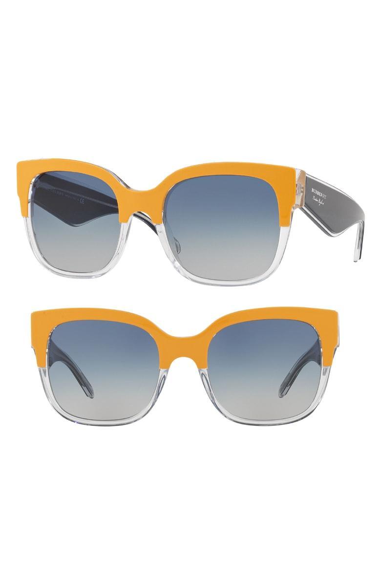 e7819fe7636 Burberry 56Mm Cat Eye Sunglasses - Orange Gradient