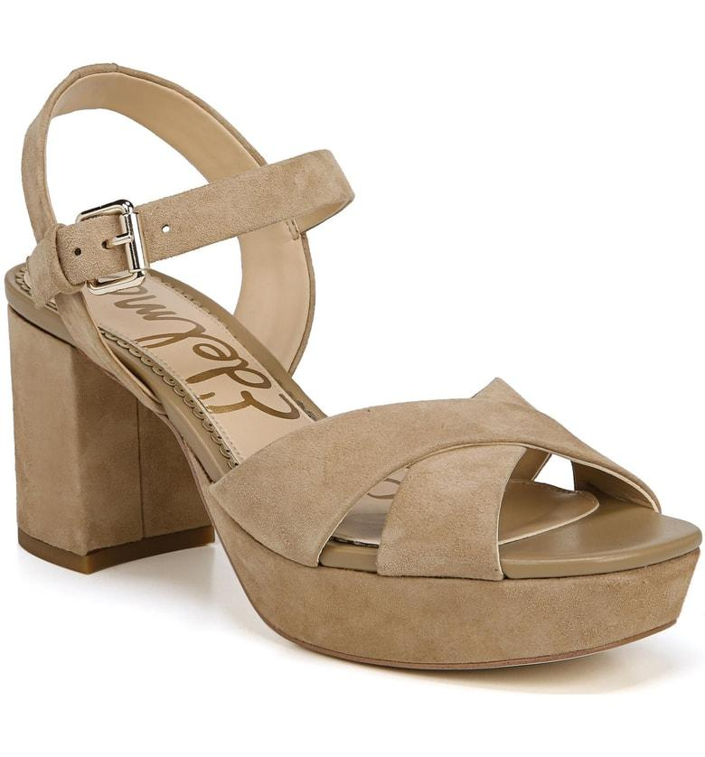 f40a5e53767 Sam Edelman Jolene Platform Sandal In Oatmeal Leather