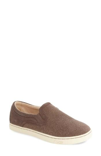 bcbc0bcf66c Ugg 'Fierce Geo' Perforated Slip-On Sneaker In Furious Fuchsia Suede ...