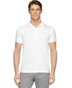 Calvin Klein Men's Liquid Touch Interlock Polo In White