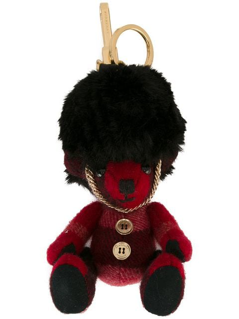 Burberry Thomas Bear Busby Cashmere Key Ring In Red