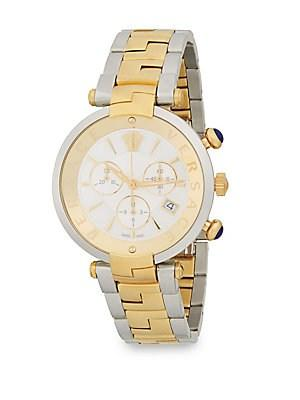 Versace Two-Tone Stainless Steel Bracelet Watch In Two Tone