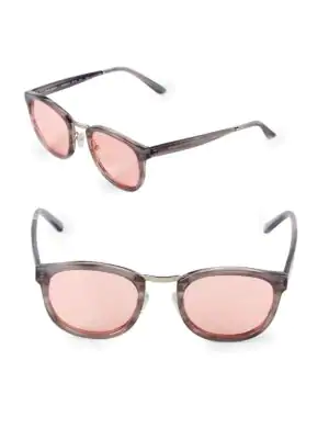 Smoke X Mirrors Crossroad 49Mm Square Sunglasses In Pink