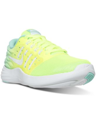 Nike Women's Lunarstelos Running Sneakers From Finish Line In Volt/white-hyper Turq-cle