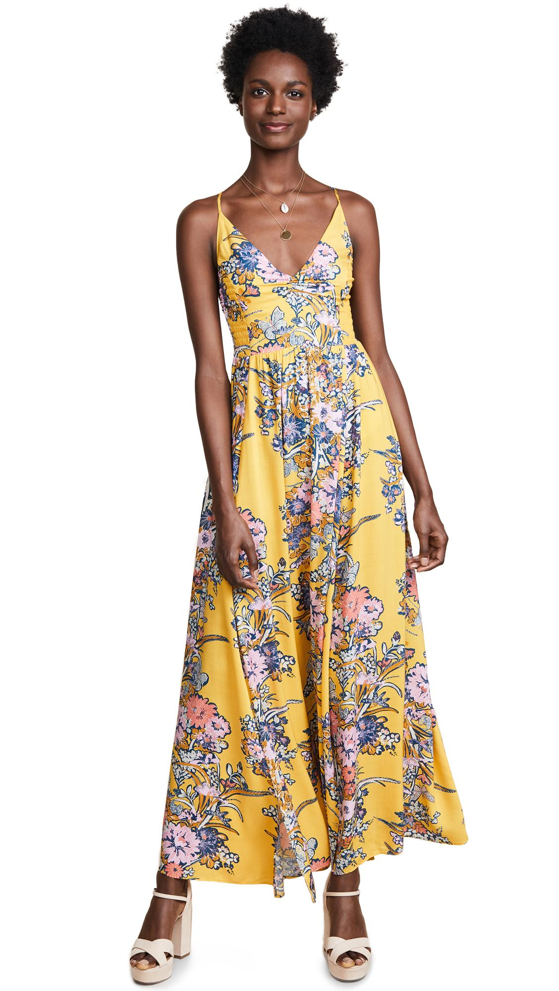 a00814757a0 Free People Through The Vine Maxi Dress In Gold