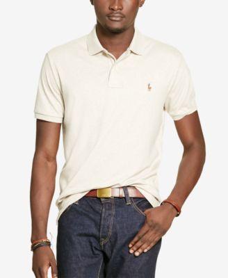 Shirt Heather Ralph Pima Touch Almond Polo Lauren Soft In thdCrxBQs
