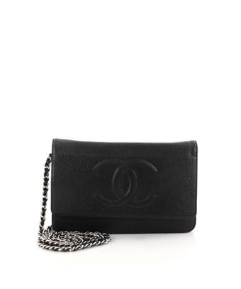 959ca2dcc4c8 Chanel Pre-Owned: Timeless Wallet On Chain Caviar In Black | ModeSens