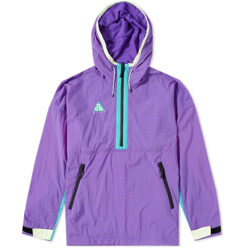 81747eb7029d Nike Acg Colour-Block Nylon-Blend Ripstop And Shell Hooded Jacket In Purple