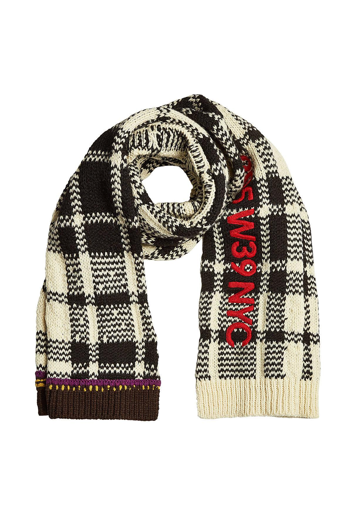 Calvin Klein 205W39Nyc Wool Scarf In Multicolored