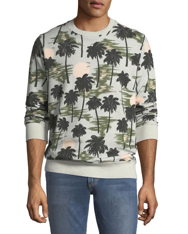 Wesc Men's Miles Hawaii-Print Sweatshirt In Hawaii Day