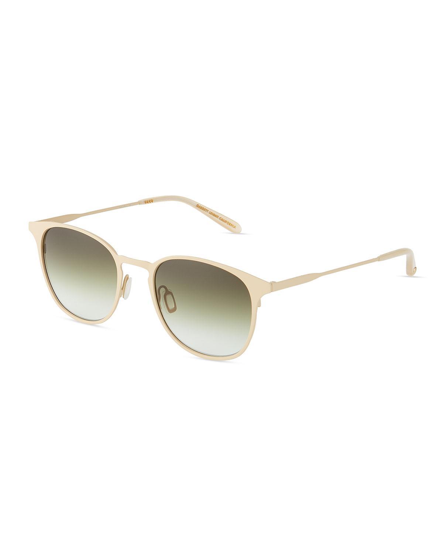 1c37151cef Garrett Leight Kinney M 52 Stainless Round Steel Acetate Sunglasses In Beige