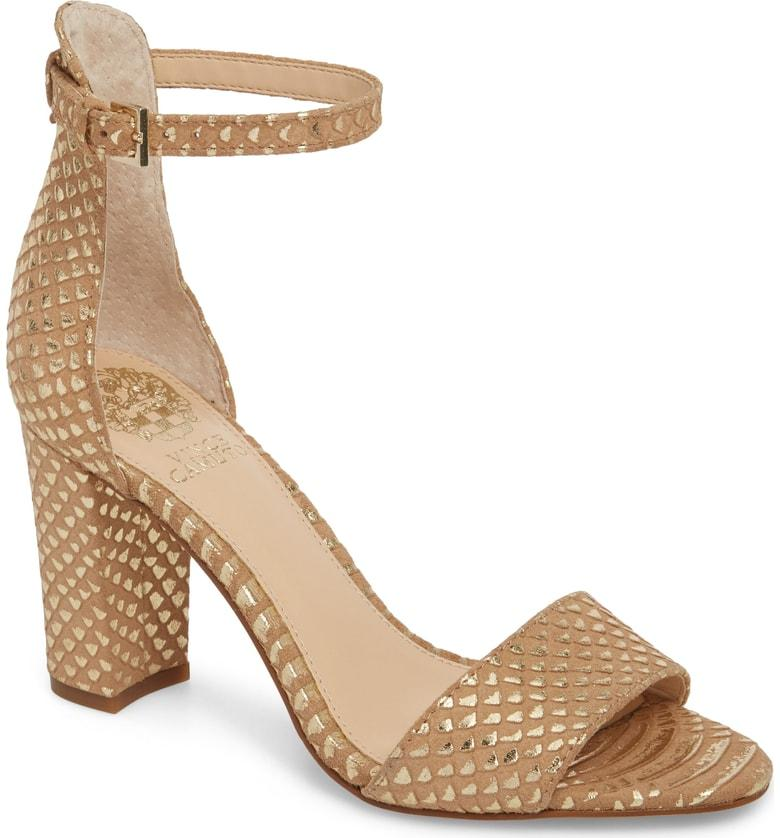251d6f15e423 Vince Camuto Corlina Ankle Strap Sandal In Light Natural Gold Metallic