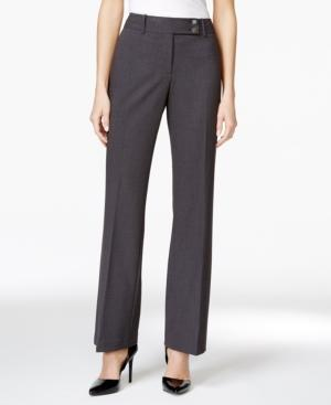 Calvin Klein Fit Solutions Curvy Straight-leg Trousers In Charcoal