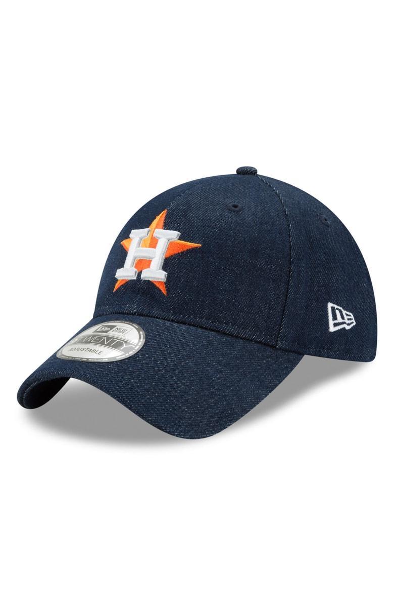 New Era X Levi's Mlb17 Denim Baseball Cap - Black In Houston Astros