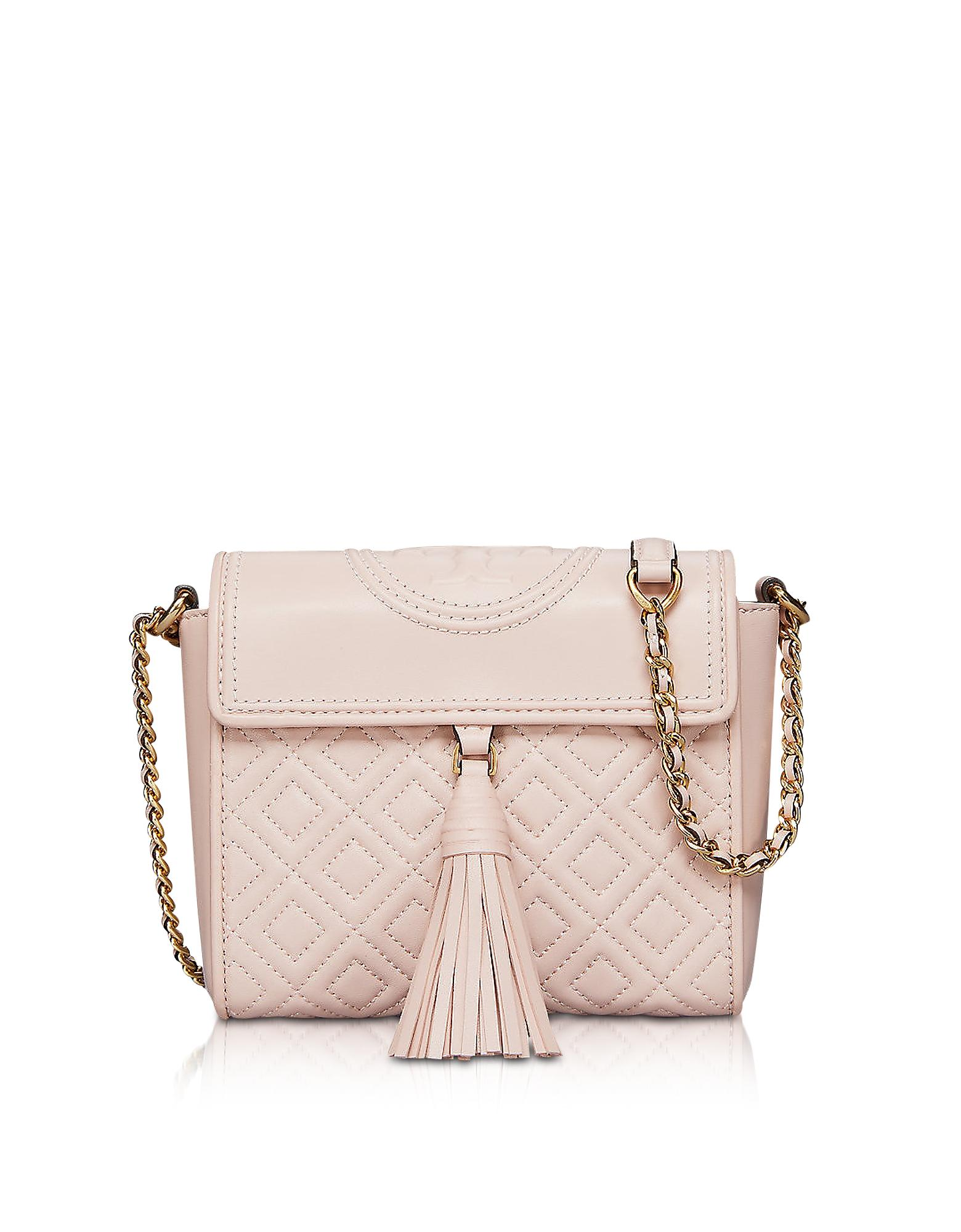 0101fd59a Tory Burch Fleming Convertible Quilted Leather Box Crossbody Bag In Shell  Pink