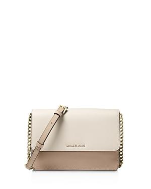 0e06ee2d5ca0 Michael Michael Kors Large Daniela Colorblock Leather Crossbody Bag - Beige  In Truffle Oat