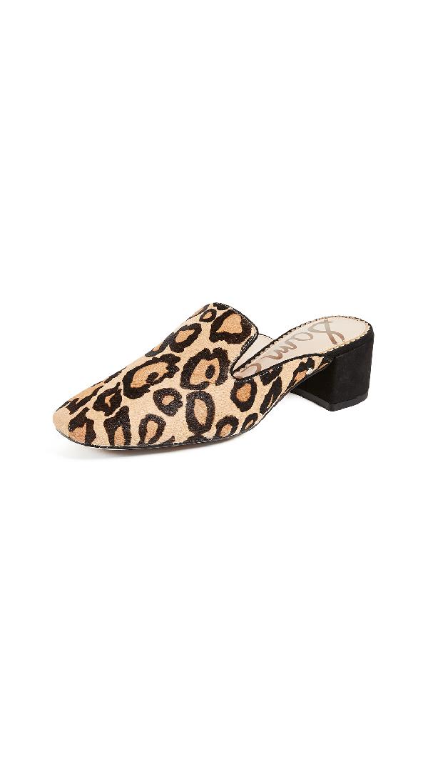 4c9ae690b0 Sam Edelman Adair Leopard-Print Block-Heel Mule In New Nude Leopard ...