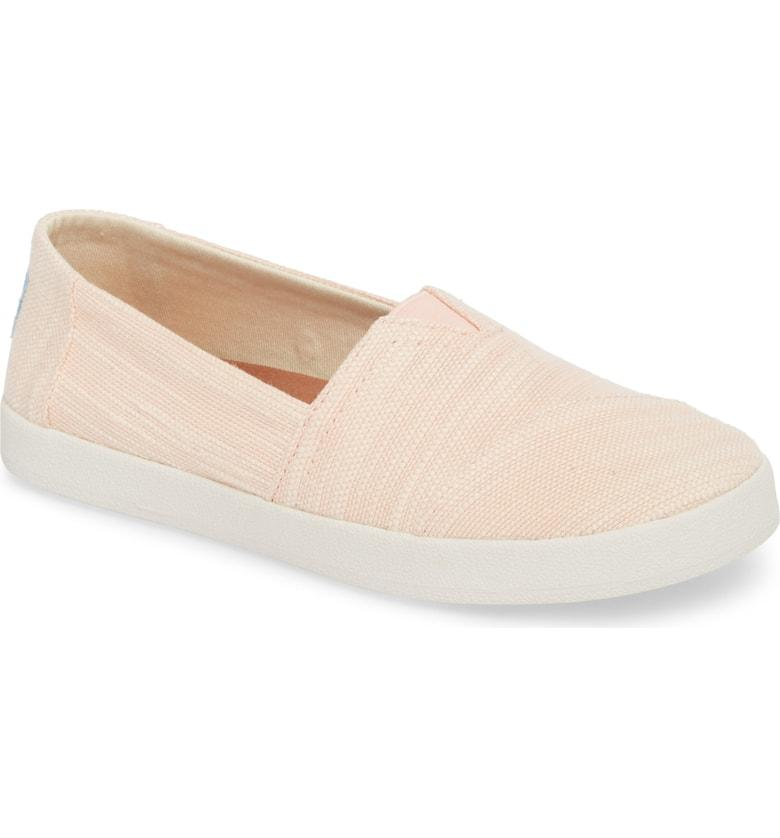 86a948677cb Toms Avalon Slip-On In Bloom Slubby Cotton