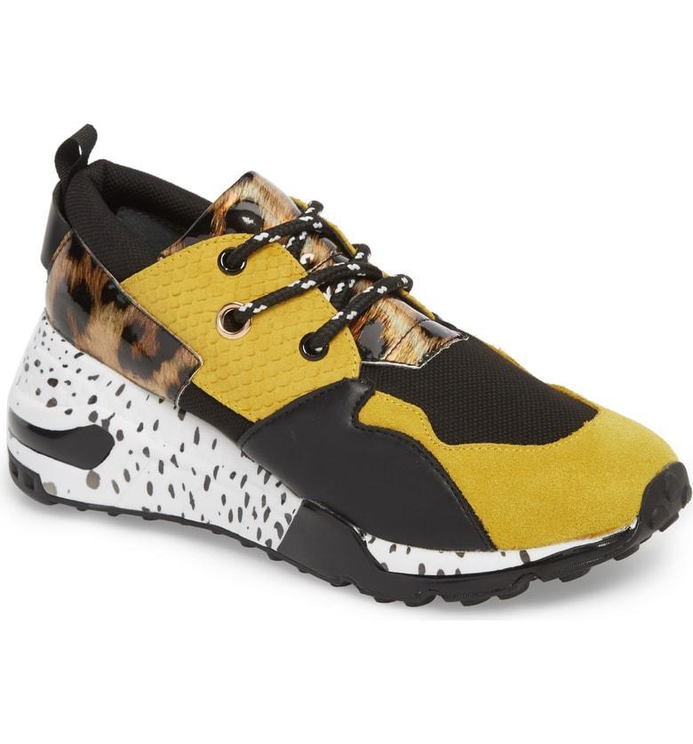 3f63f620035f3 Steve Madden Cliff Sneaker In Yellow Multi | ModeSens