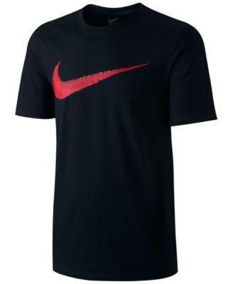 Nike Men's Hangtag Swoosh T-shirt In Black/red