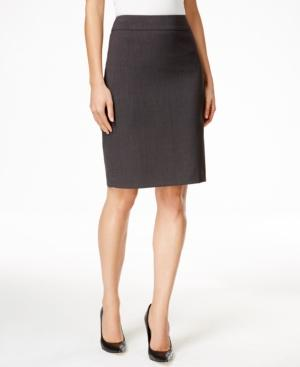 Calvin Klein Fit Solutions Pencil Skirt In Charcoal