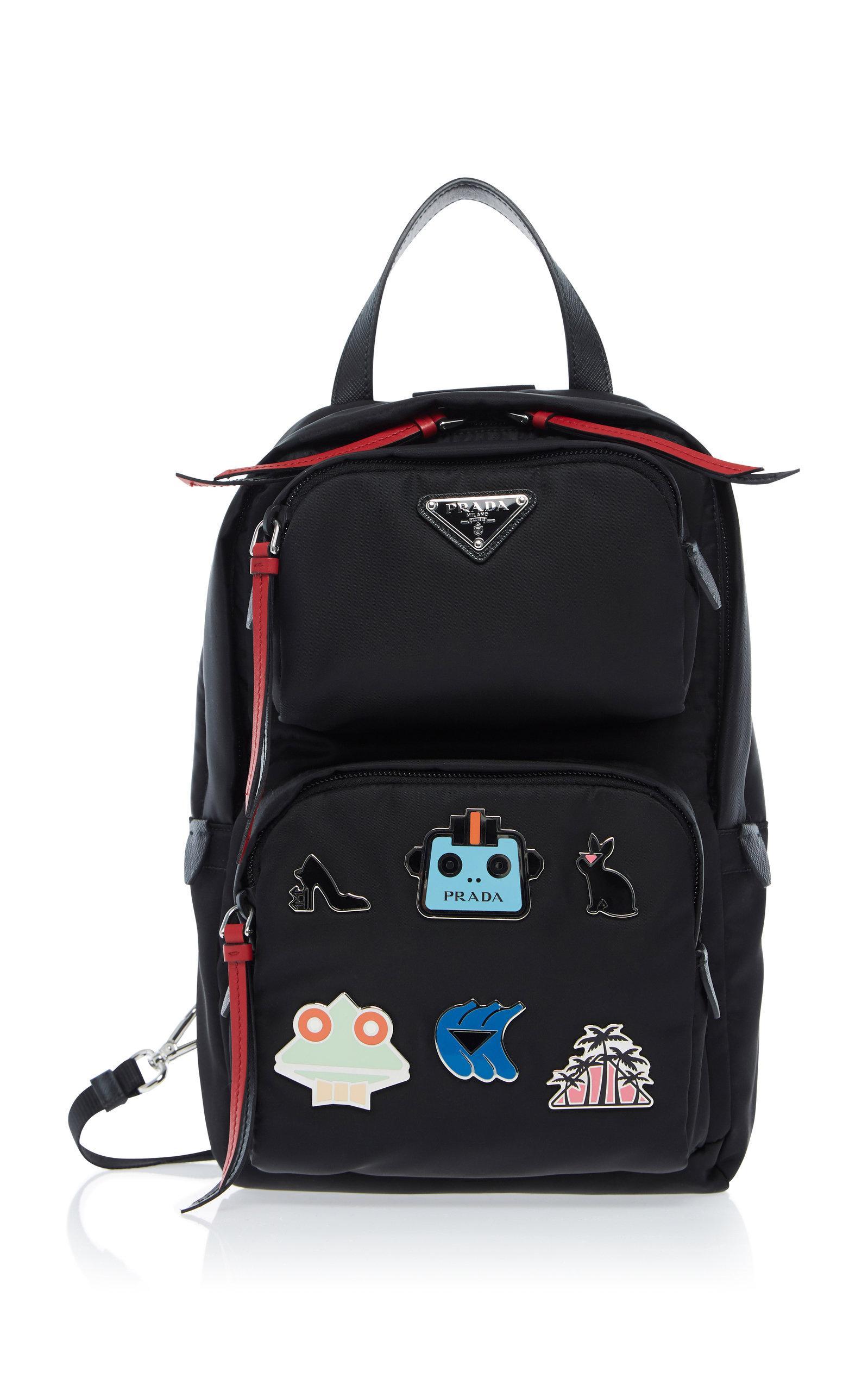 416fd5c3d56e Prada Small AppliquÉD Shell Backpack In Black