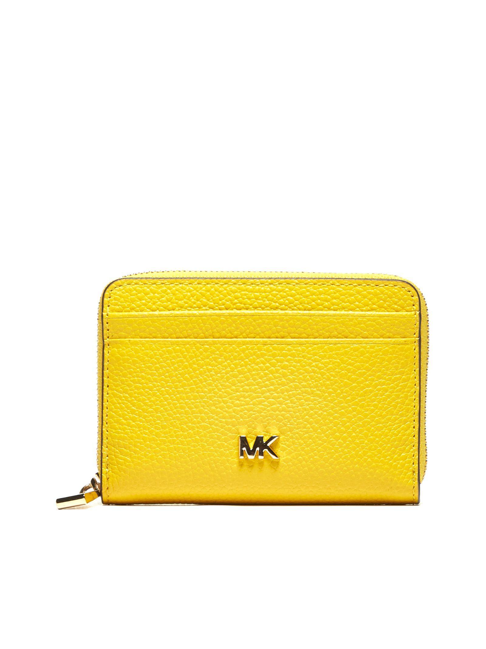 29c045fa411f68 Michael Michael Kors Mercer Small Zip Around Wallet In Giallo | ModeSens