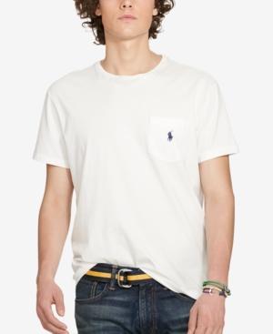 Polo Ralph Lauren Men's Standard Fit Pocket T-shirt In White