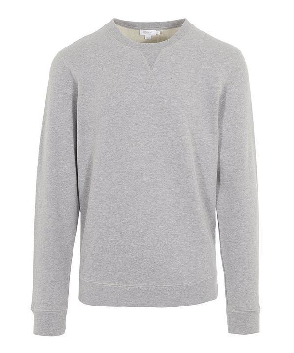 Sunspel Crew-neck Cotton Sweatshirt In Grey