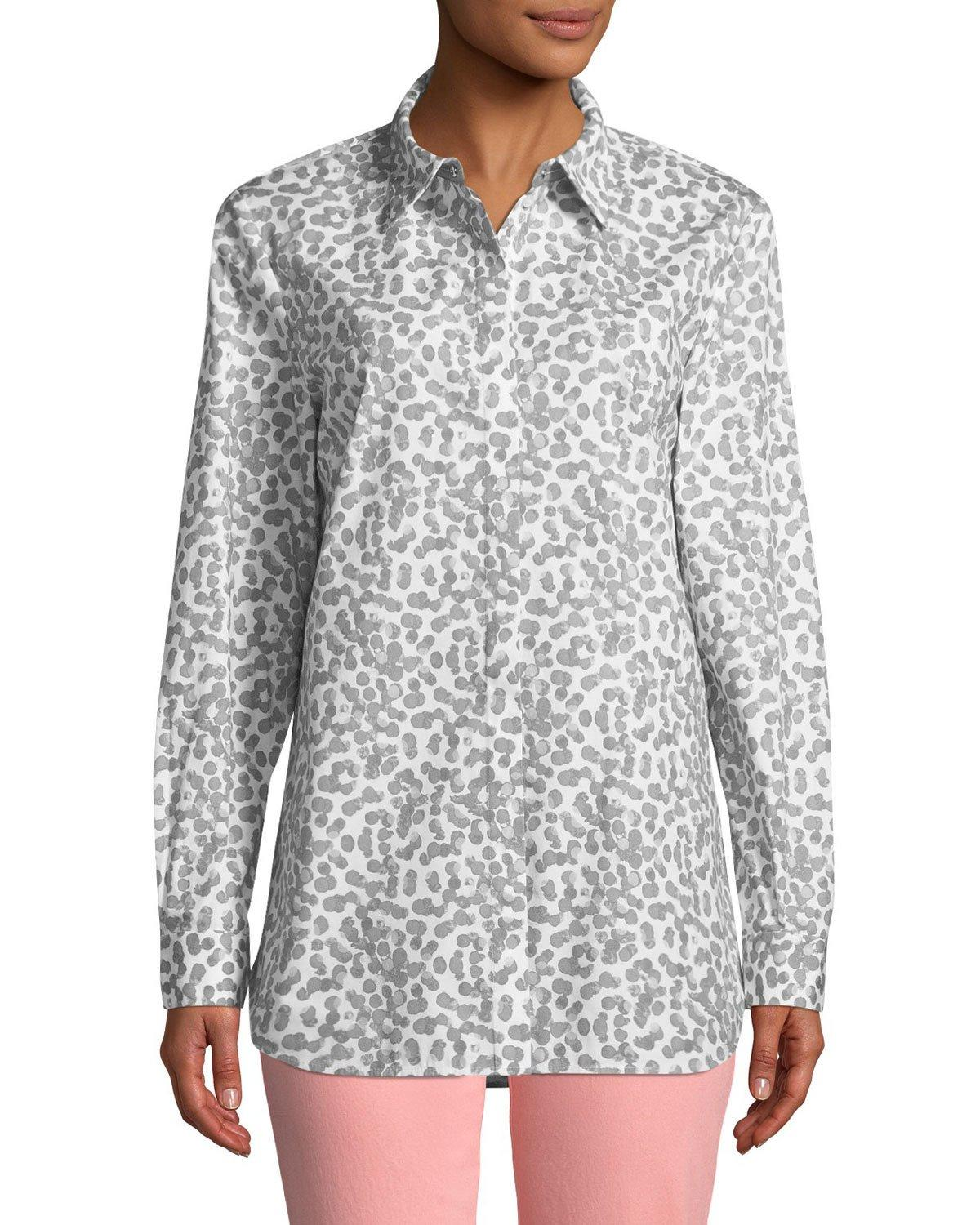 8cce7644592ef0 Lafayette 148 Brody Button-Down Polka-Dot Blouse In Multi | ModeSens