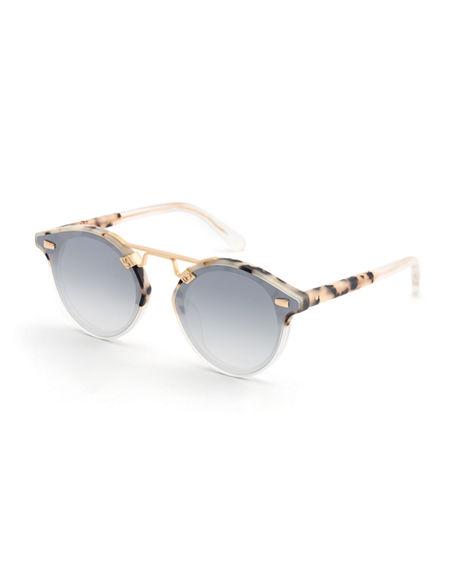 5d7433b0562be Krewe Women s Stl Ii Nylon 24K Mirrored Round Sunglasses
