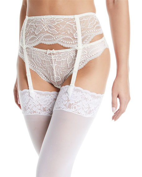 4792f351ae1 Simone Perele Eden Lace Suspenders Garter Belt In Ivory