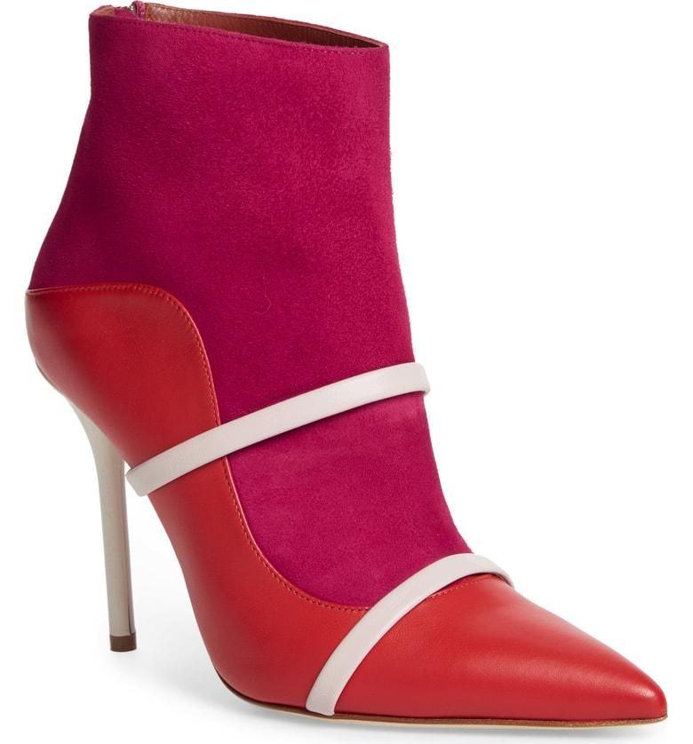 Madison Double Band Boot In Cherry Red White