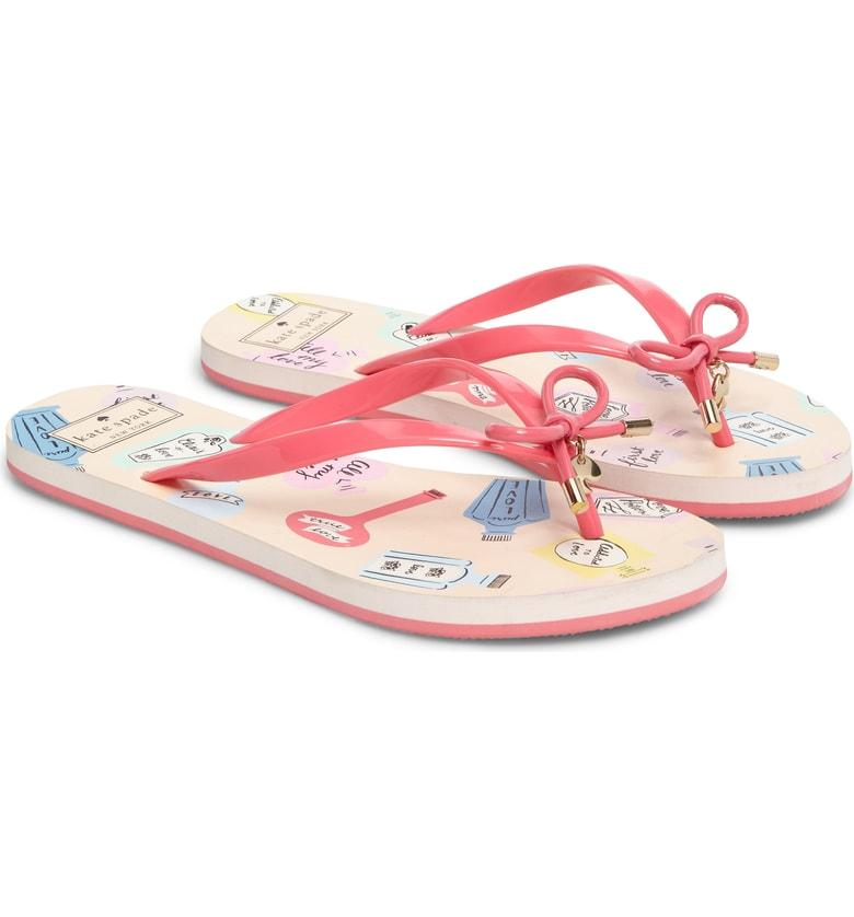 fc4c69ad85f0 ... tops the rubber thong strap of a pedi-worthy flip-flop set on a cushy