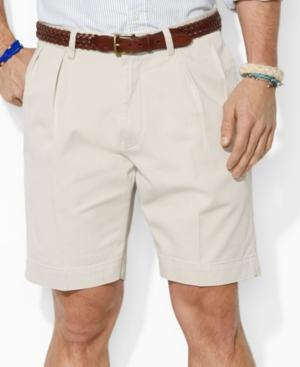 """Polo Ralph Lauren Men's Core 9"""" Classic-fit Pleated Chino Shorts In Classic Stone"""