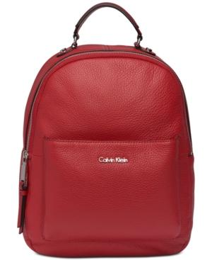 Calvin Klein Sage Backpack In Red/Silver Metallic
