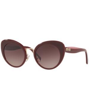 905f9e48a6c Miu Miu Mu 06Ts Butterfly Sunglasses In Black
