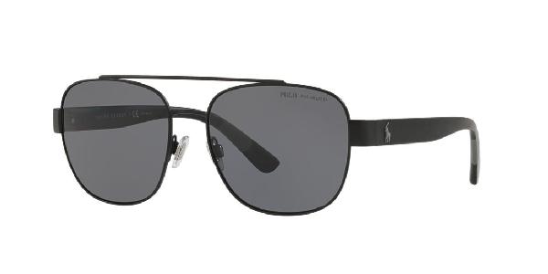 Polo Ralph Lauren Sunglasses, Ph3119 58 In Matte Black / Polar Grey