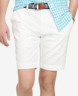 """Polo Ralph Lauren Men's 9.5"""" Classic-fit Flat-front Chino Shorts In White"""