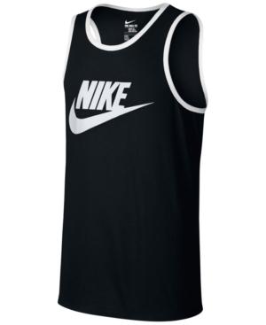 Nike 'ace Sportswear Logo' Graphic Tank In Black/white
